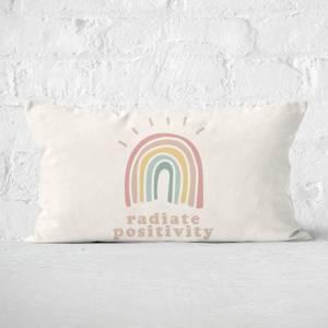 Rainbow Radiate Positivity Rectangular Cushion