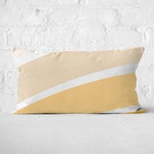Rainbow Yellow Stripes Rectangular Cushion