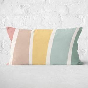 Rainbow Light Stripes Rectangular Cushion