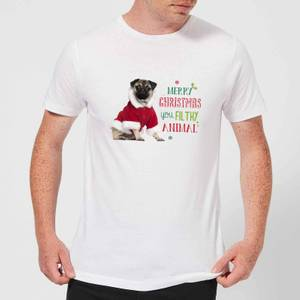 Christmas Pug Men's T-Shirt - White