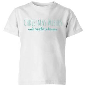 Christmas Wishes Kids' T-Shirt - White