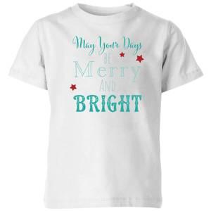Merry & Bright Kids' T-Shirt - White