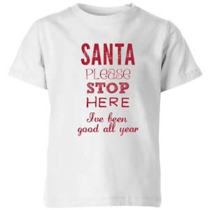 Please santa Kids' T-Shirt - White
