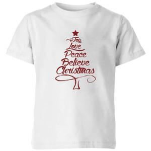 Peace at christmas Kids' T-Shirt - White