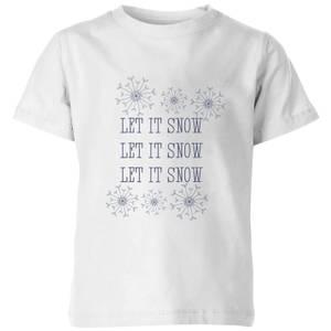 Let it Snow Kids' T-Shirt - White
