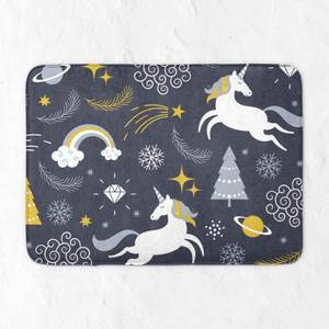 Christmas Unicorn Adventure Bath Mat