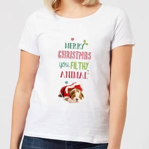 Filthy animal Bulldog Women's T-Shirt - White