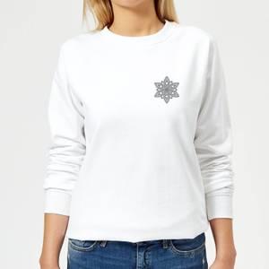 Snowflake Women's Sweatshirt - White