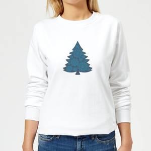 Snowflake tree Women's Sweatshirt - White