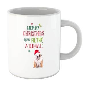 Merry Christmas bulldog Mug