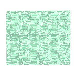 Green Motherboard Fleece Blanket