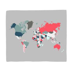 Dark World Map Fleece Blanket