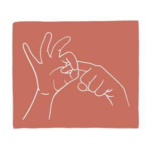 Rude Hand Gestures Fleece Blanket