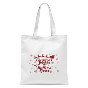 Christmas wishes Tote Bag - White