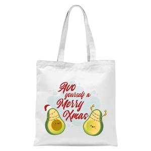 Avo Yourself A Merry Xmas Tote Bag - White