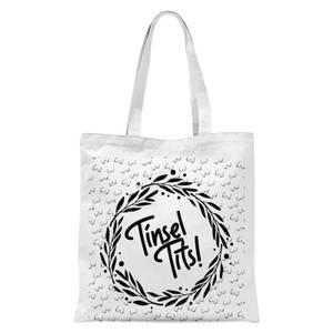 Tinsel Tits Tote Bag - White
