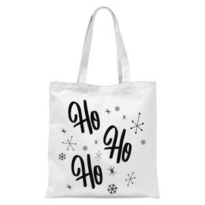 Ho Ho Ho Tote Bag - White