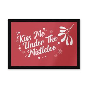 Kiss Me Under The Mistletoe Entrance Mat