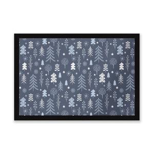 Dark Christmas Winter Forest Entrance Mat