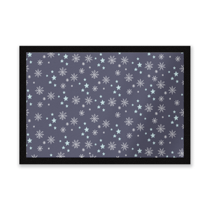 Snowflakes At Night Entrance Mat