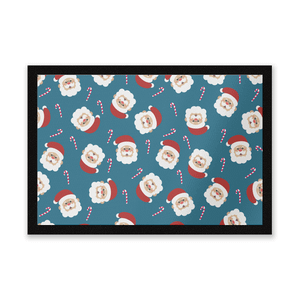 Father Christmas Candy Cane Entrance Mat