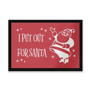 I Put Out For Santa Vintage Santa Entrance Mat