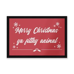 Merry Christmas Ya Filthy Animal! Door Mat Entrance Mat