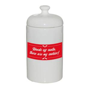 Hands Off Santa These Are My Cookies! Storage Jar