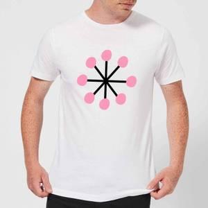 Pink Snowflake Men's T-Shirt - White