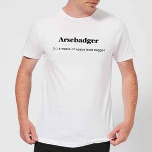 Arsebadger Men's T-Shirt - White