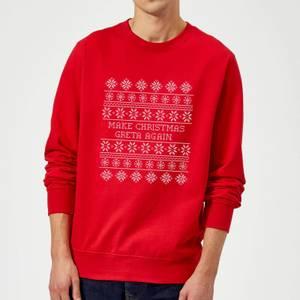 Make Christmas Greta Again Sweatshirt - Red