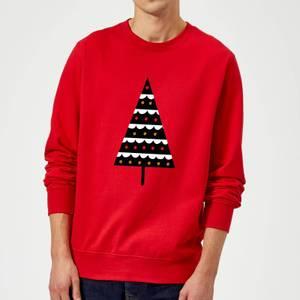 Dark Christmas Tree Sweatshirt - Red