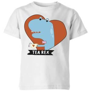 Tea Rex Kids' T-Shirt - White