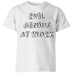 Evil Genius At Work Kids' T-Shirt - White