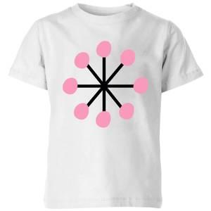 Pink Snowflake Kids' T-Shirt - White