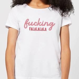 Cross Stitch Fucking Falalalalalala Women's T-Shirt - White