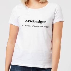 Arsebadger Women's T-Shirt - White