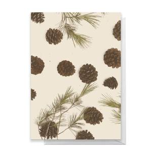 Pine Cone Merry Christmas Greetings Card