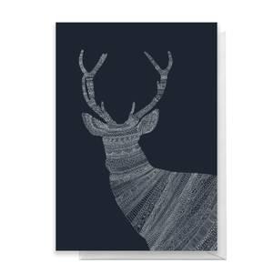 Aztec Night Reindeer Greetings Card