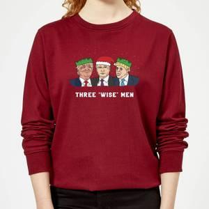 Three 'Wise' Men Women's Sweatshirt - Burgundy