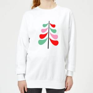 Simple Christmas Tree Women's Sweatshirt - White