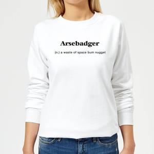 Arsebadger Women's Sweatshirt - White