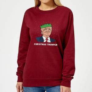 Christmas Trumper Women's Sweatshirt - Burgundy