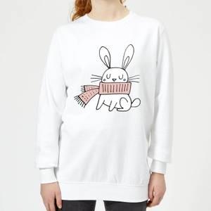 Christmas Rabbit Women's Sweatshirt - White