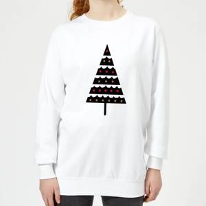 Dark Christmas Tree Women's Sweatshirt - White