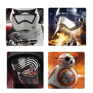 Funko Homeware Star Wars Ep VII Plate Set Photographic Characters 4 Pack