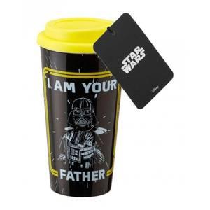 Funko Homeware Star Wars Plastic Lidded Mug I am your Father