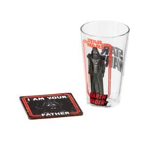 Funko Homeware Star Wars Pint Glass and Coaster Set Darth Vader