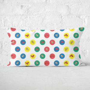 Twister White Rectangular Cushion