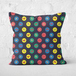 Twister Black Square Cushion